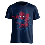 Marvel Spider-Man Men's Web Shooting T-Shirt - Navy