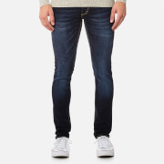 Superdry Men's Skinny Jeans - Dark Blue Used