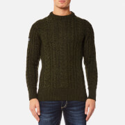 Superdry Men's Jacob Heritage Cable Crew Jumper - Peat