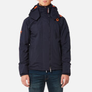Superdry Men's Pop Zip Hood Arctic Windcheater Jacket - Deep Marine/Emergency Orange