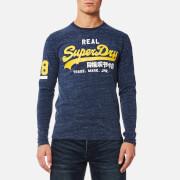 Superdry Men's Vintage Logo Duo Long Sleeve T-Shirt - Urban Navy Grit