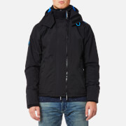 Superdry Men's Pop Zip Hood Arctic Windcheater Jacket - Black/Super Denby