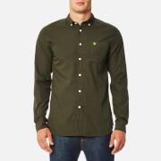 Lyle & Scott Men's Garment Dye Shirt - Olive