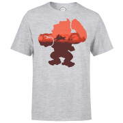 T-Shirt Homme Silhouette Serengeti Donkey Kong Nintendo - Gris Clair