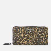 Vivienne Westwood Anglomania Women's Leopard Zip Around Wallet - Green