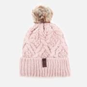 Superdry Women's Nebraska Cable Beanie - Soft Pink