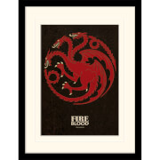 Game of Thrones Targaryen Mounted 30 x 40cm Print