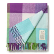Avoca Cashmere Blend Milan Throw - Purple/Green - 142 x 183cm