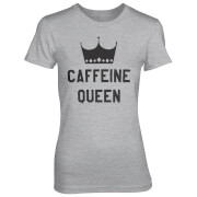 Caffeine Queen Women's Grey T-Shirt