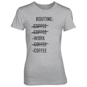 Routine Check List Women's Grey T-Shirt