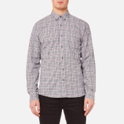 Michael Kors Men's Slim Fit Flannel Open Check BD Long Sleeve Shirt - Chianti