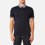 Michael Kors Men's Greenwich Logo Jacquard Short Sleeve Polo Shirt - Midnight