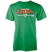 Nintendo® The Legend of Zelda Retro Logo Heren T-shirt - Groen