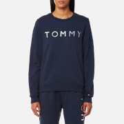 Tommy Hilfiger Women's Heavy Weight Tommy Knitted Sweatshirt - Peacoat