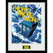 Doctor Who Tardis Comic - 16 x 12 Inches Framed Photograph