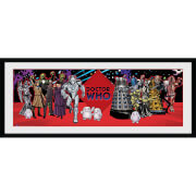 Doctor Who Villains - 30 x 12 Inches Framed Photograph