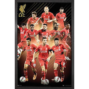 Liverpool Players 15/16 - 61 x 91.5cm Framed Maxi Poster