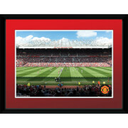 Manchester United Stadium 15/16 - 8 x 6 Inches Framed Photograph