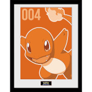 Pokémon Charmander Mono - 16 x 12 Inches Framed Photograph
