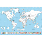 World Map Colour In - 61 x 91.5cm Maxi Poster