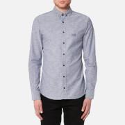 BOSS Orange Men's Epreppy Long Sleeve Shirt - Navy