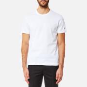Champion Men's Basic Sleeve Logo Short Sleeve T-Shirt - White