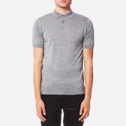 John Smedley Men's Payton 30 Gauge Merino Short Sleeve Polo Shirt - Silver