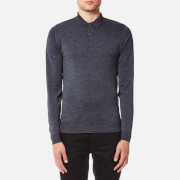 John Smedley Men's Belper 30 Gauge Merino Long Sleeve Polo Shirt - Charcoal