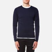 John Smedley Men's Lundy 30 Gauge Extra Fine Merino Crew Neck Jumper - Midnight