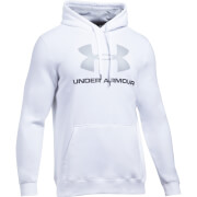 Under Armour Men's Rival Fitted Graphic Hoody - White