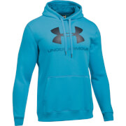 Under Armour Men's Rival Fitted Graphic Hoody - Blue
