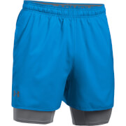 Under Armour Men's Qualifier 2-in-1 Shorts - Grey/Blue