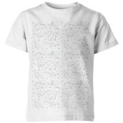 Origami Dinosaur All Over Kid's White T-Shirt