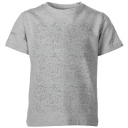 My Little Rascal Kids Origami Dinosaur All Over Print Grey T-Shirt