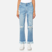 MINKPINK Women's Rough Night Cut Off Jeans - Light Vintage Blue