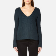 MINKPINK Women's Mona Split Sleeve Sweater - Dark Teal