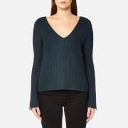 MINKPINK Women's Mona Split Sleeve Sweater - Dark Teal