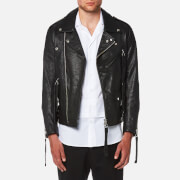 Matthew Miller Men's Tyler Goat Leather Biker Jacket - Black