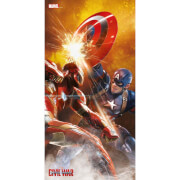 Captain America Civil War Glass Poster - Fight Scene (60 x 30cm)
