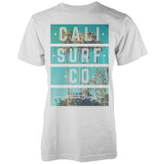 T-Shirt Homme Cali Surf Co Block Native Shore - Blanc