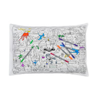Doodle Dinosaur Pillowcase with 10 Wash Out Pens