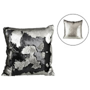Parlane Two Tone Sequin Cushion (43 x 43cm) - Black/Silver