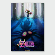 Nintendo Legend of Zelda Majoras Mask Forest ChromaLuxe Hoogglans Metalen Poster