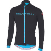 Castelli Fondo Long Sleeve Jersey - Anthracite/Sky Blue