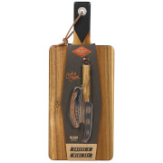 Gentlemen's Hardware Cheese Board and Knife Set with Wine Opener
