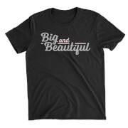 Big And Beautiful Black T-Shirt