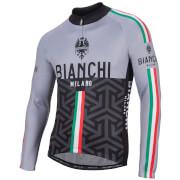 Bianchi Montalto Long Sleeve Jersey - Black/Grey
