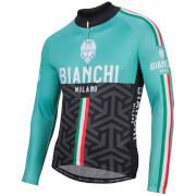 Bianchi Montalto Long Sleeve Jersey - Black/Celeste
