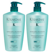 Kérastase Resistance Bain Force Architecte (500ml) Duo