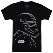 Star Wars Boys' The Last Jedi Trooper Outline T-Shirt - Black